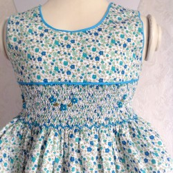 smocked dress girl liberty