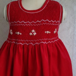 smocked dress girl VELVET