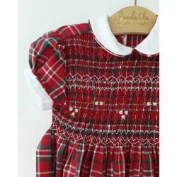 SCOTTISH smocked dress girl